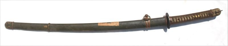 late 18th/early 19thC Samurai sword in scabbard