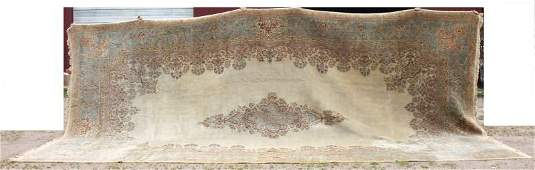 Extremely large 22x118 semiantique Persian Kirman