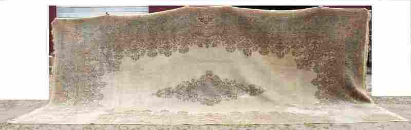"""Extremely large 22'x11'8"""" semi-antique Persian Kirman"""