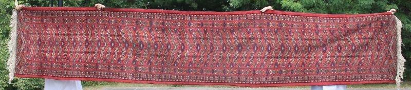 """2'6""""x13'1"""" antique Tekke Bokhara Oriental runner"""