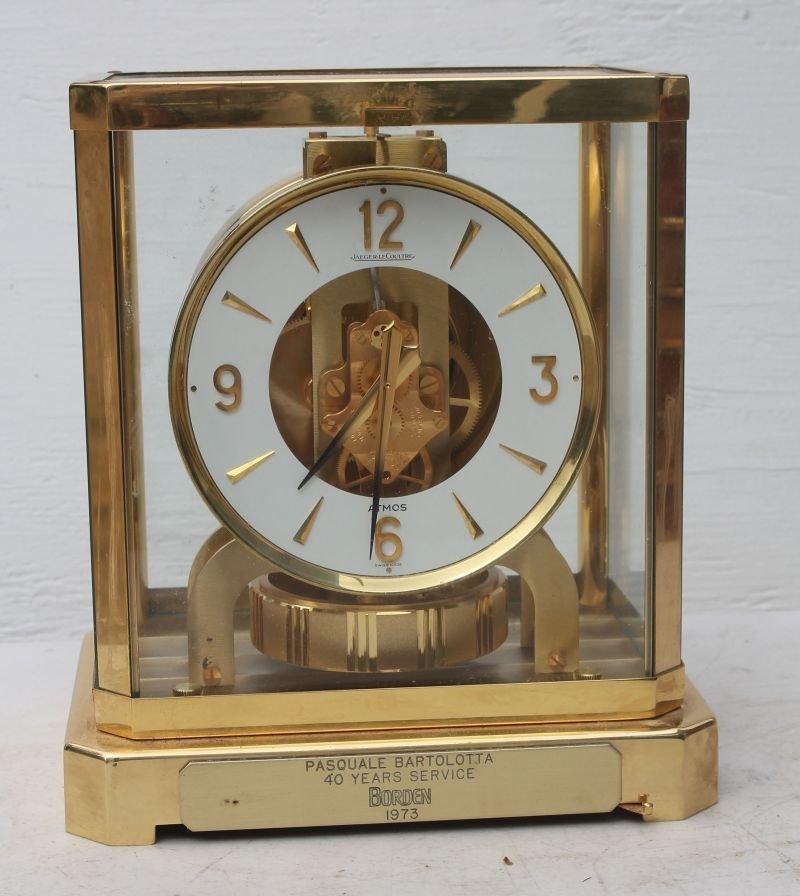 Jaeger LeCoultre brass & glass atmos clock w