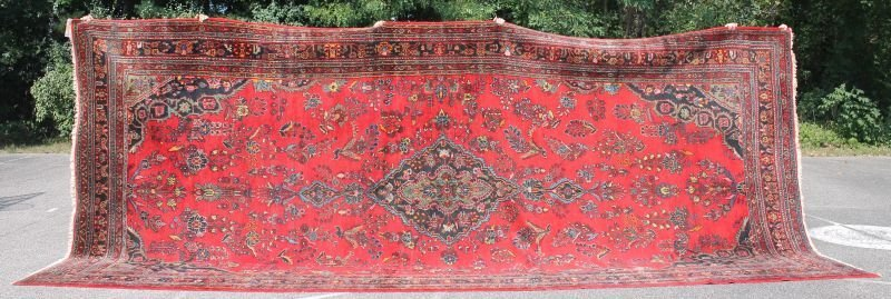"Excellent 9'2""x20'2"" semi-antique Persian Kasvan"