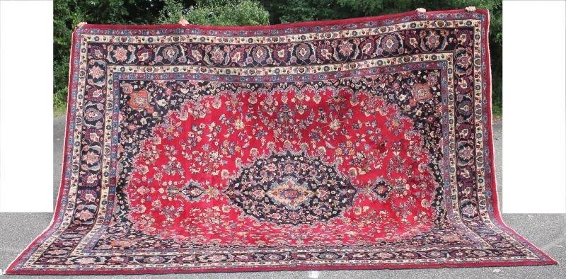 "10'x13'3"" semi-antique Persian Mashed Oriental"