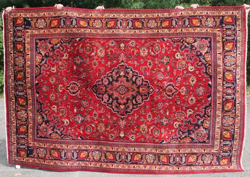 """6'7""""x9'8"""" semi-antique Persian Mashed Oriental rm size"""