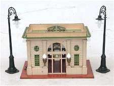 Fine antique Lionel City train station w orig painted