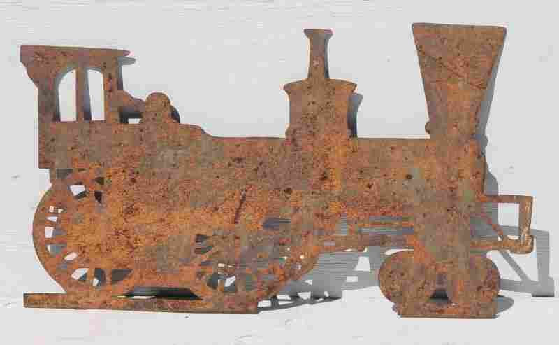 ca 1880 rare graphic early silhouette form locomotive