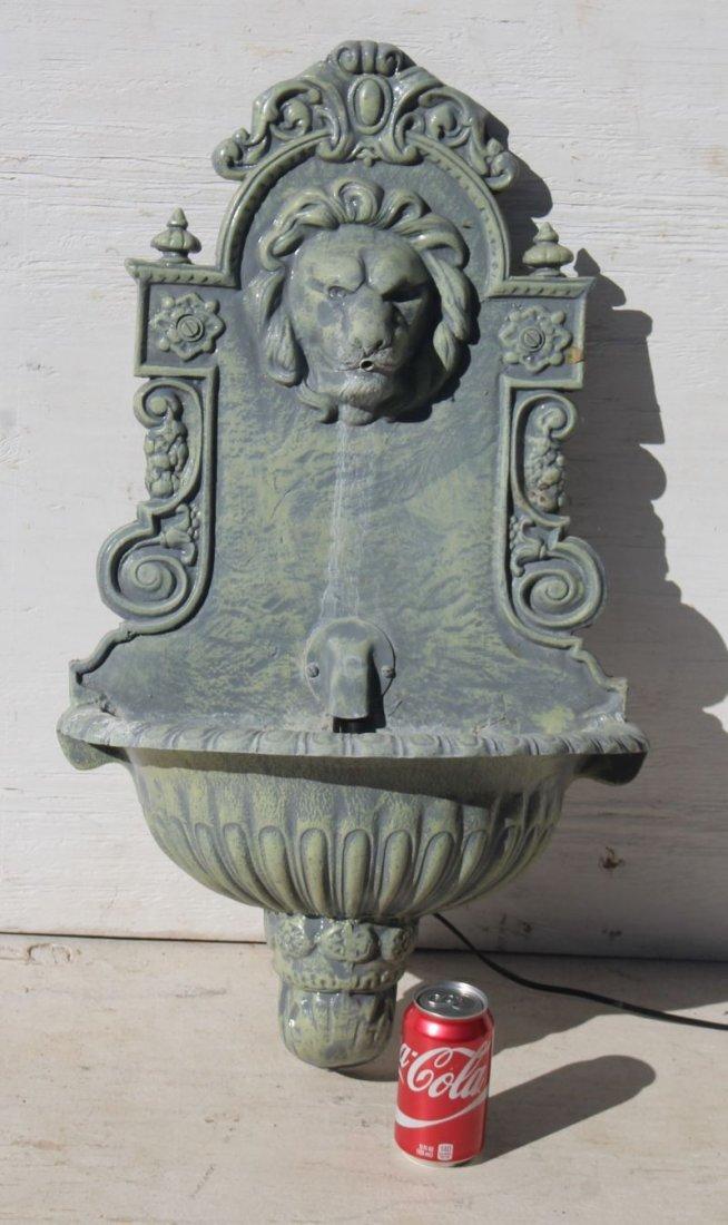 Fine form cast zinc or aluminum lavabo/fountain w lion - 2