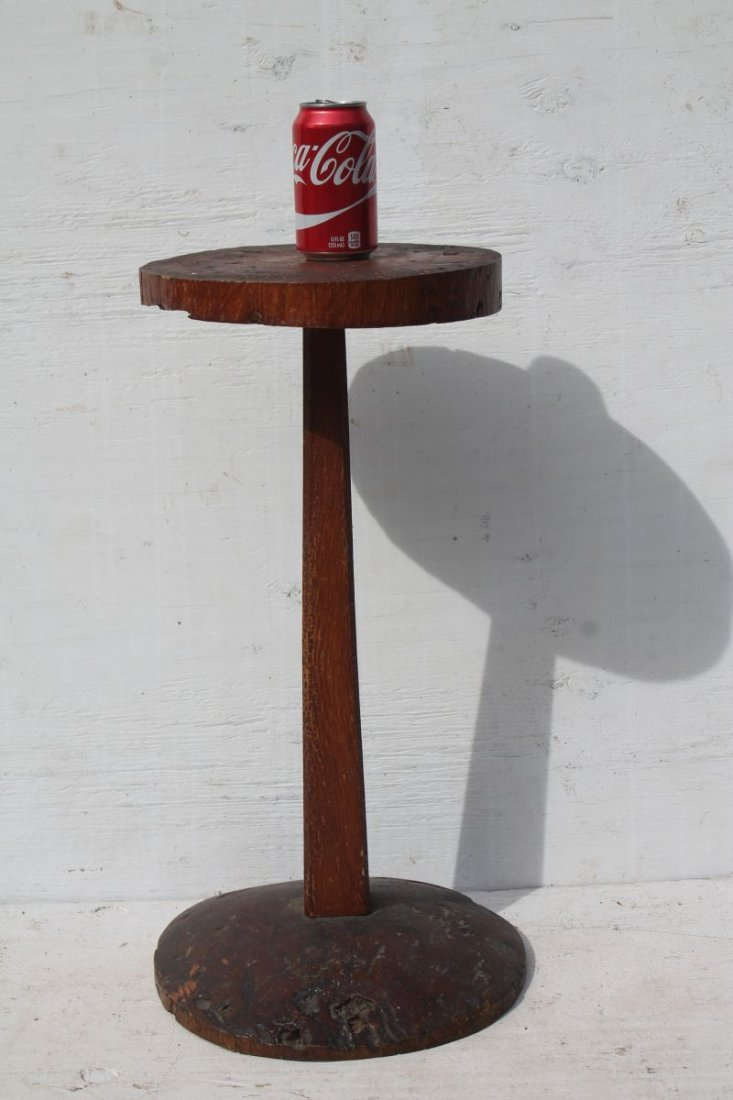 "Very rare 18thC burl candlestand featuring 11 1/4"" diam - 4"