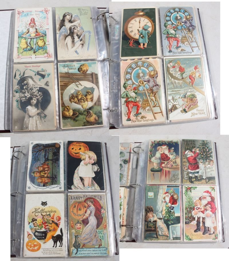 Great lot of approx 165 Holiday Postcards incl