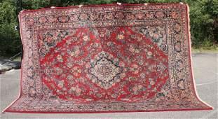 "9'4""x12'6"" fine semi-antique Persian Sarouk over"
