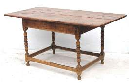 Great Wm & Mary ca 1710 dining size stretcher based