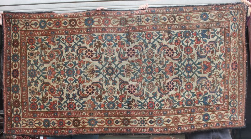 "3'7""x7' antique Caucasian Oriental area rug - from the"