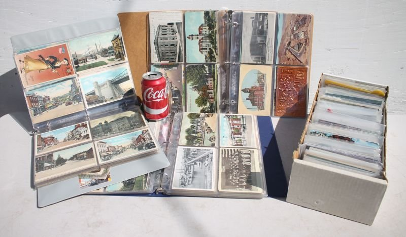 3 postcard albums featuring NY, NJ, MD, FL, LA, PA, OH, - 2