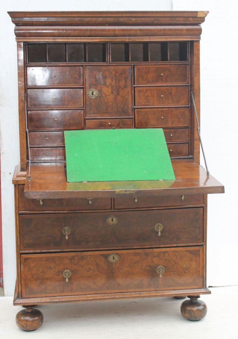 excellent 17thC English ball foot fall front secretary - 2