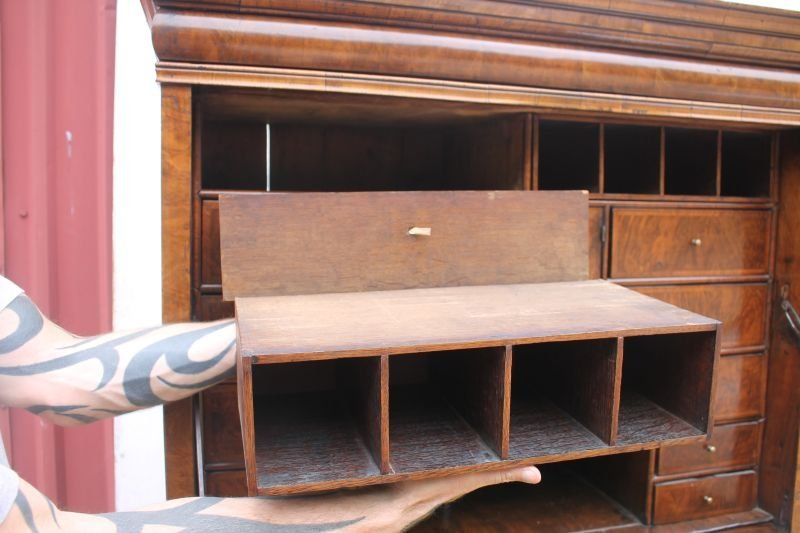 excellent 17thC English ball foot fall front secretary - 4