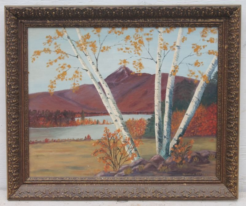 """sgnd Florence Chase White Mountain School 16"""" x 20"""""""