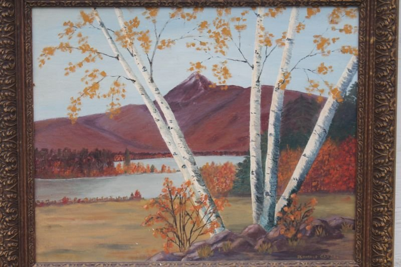 """sgnd Florence Chase White Mountain School 16"""" x 20"""" - 3"""