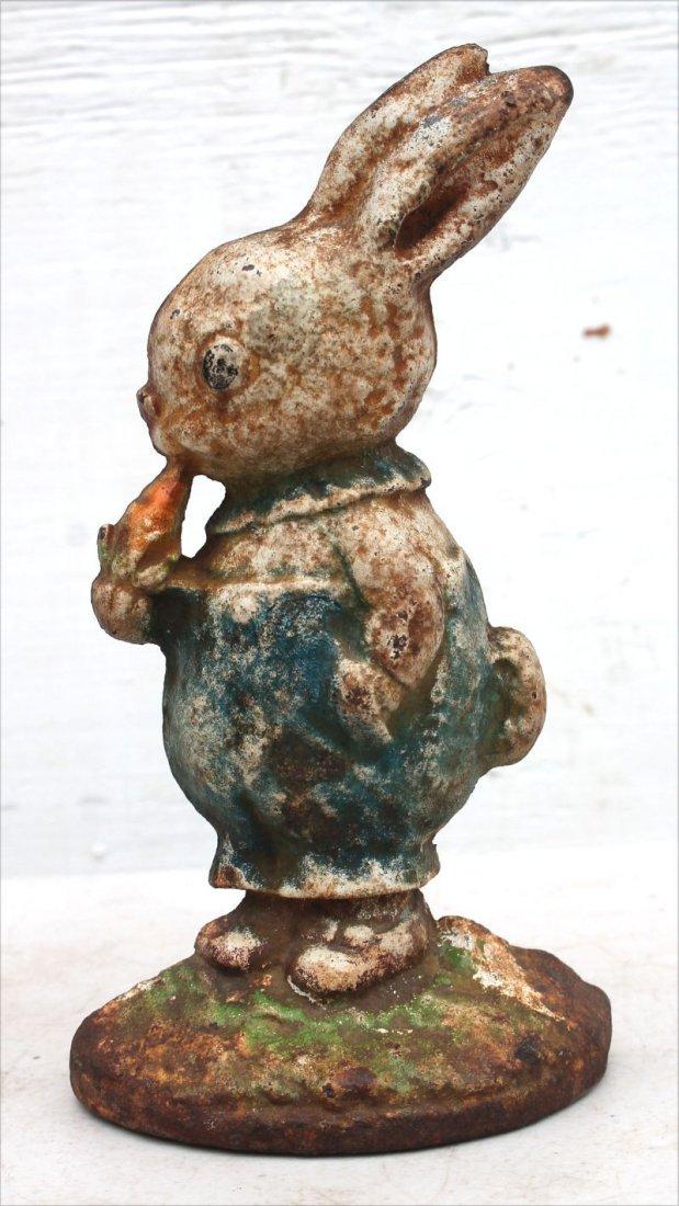 ca 1920 cast iron rare Peter Rabbit doorstop by Hubley