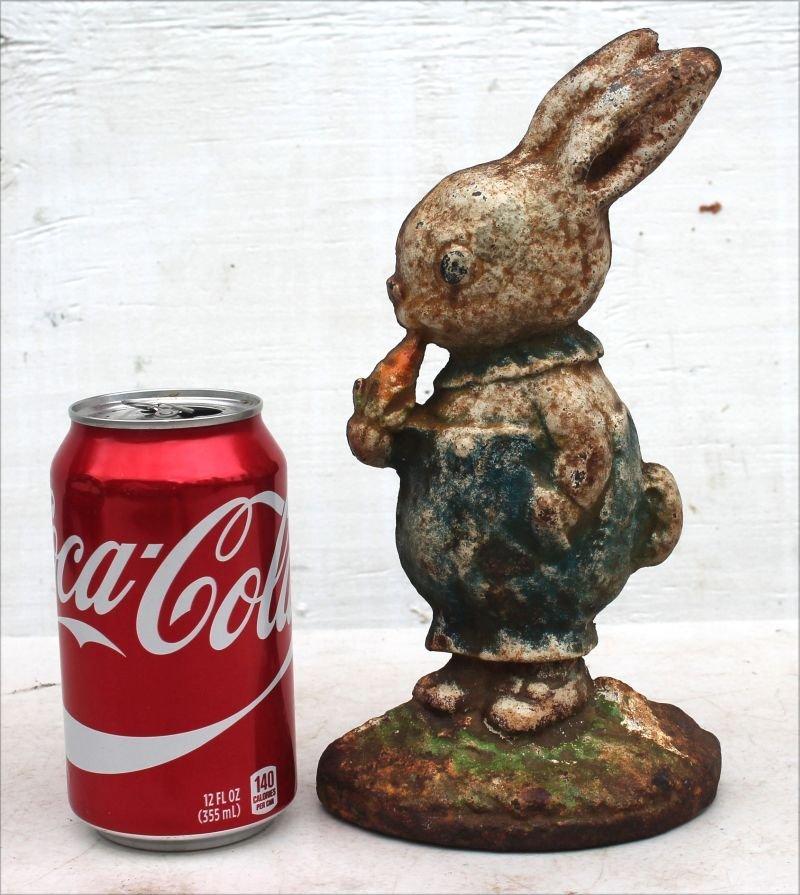 ca 1920 cast iron rare Peter Rabbit doorstop by Hubley - 2