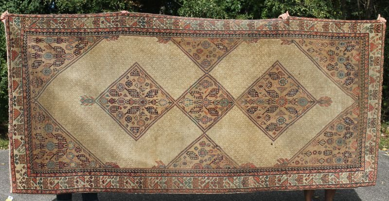 """5'4""""x11'9"""" antique Persian Malayer Oriental rm size rug"""