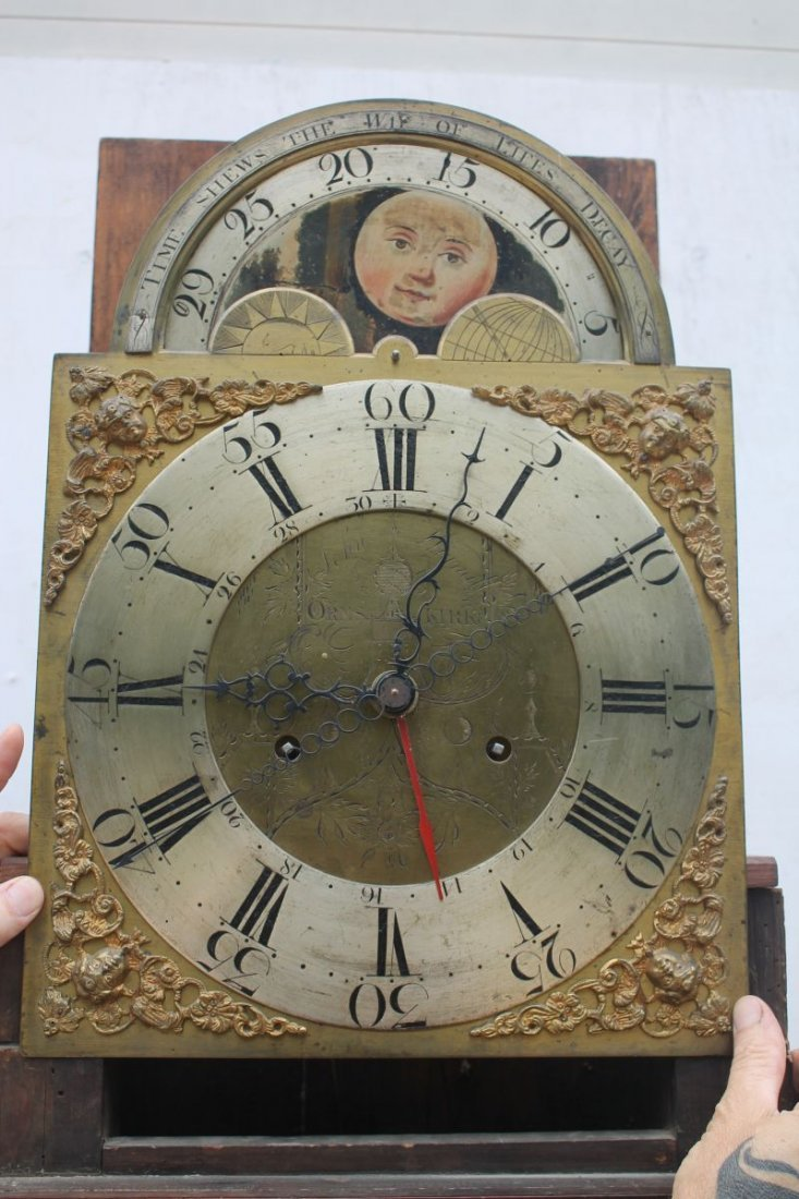 ca 1830's English or Scottish tall clock w rare sweep - 3
