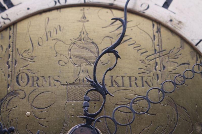 ca 1830's English or Scottish tall clock w rare sweep - 4