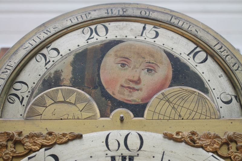 ca 1830's English or Scottish tall clock w rare sweep - 6