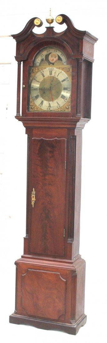 ca 1830's English or Scottish tall clock w rare sweep - 8