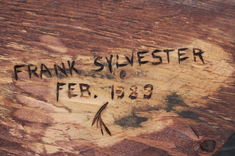 carved Green Winged Teal decoy sgnd Frank Sylvester & - 4