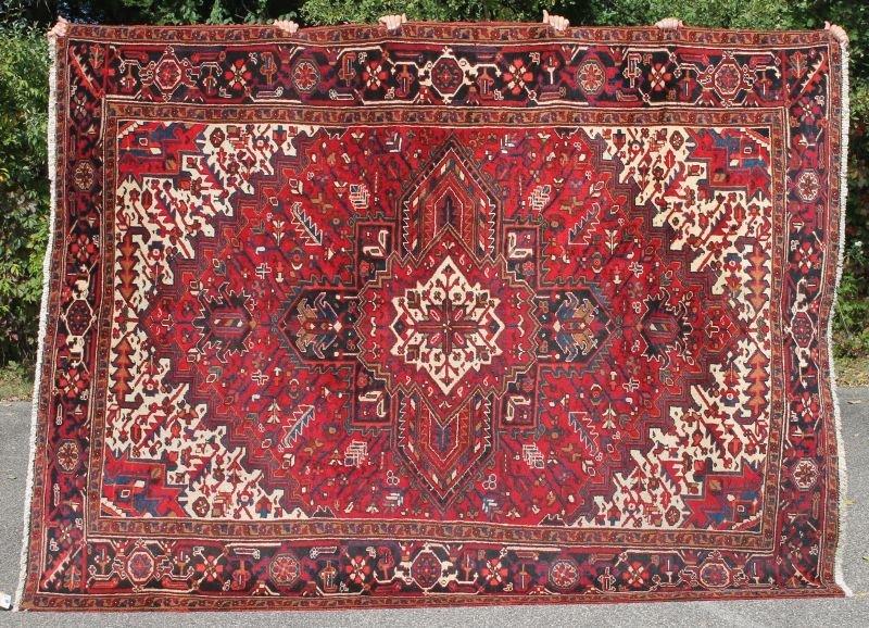 "7'3""x9'8"" semi-antique Persian Heriz Oriental rm size"