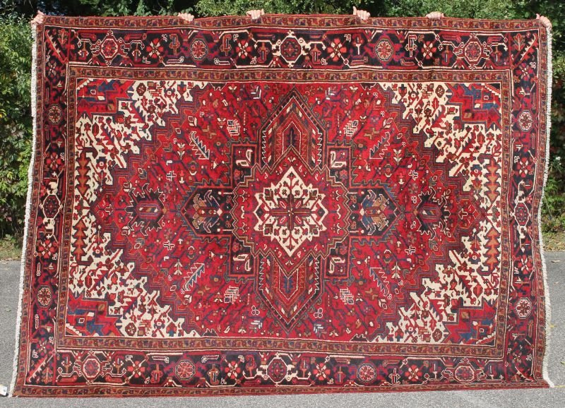 "7'3""x9'8"" semi-antique Persian Heriz Oriental rm size"