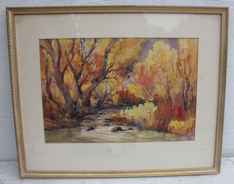"Natt Alanson Piper (1886-1969) 13""x19"" sight size brook - 5"