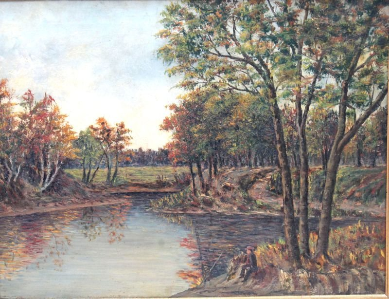 """Thomas Hill (1829-1908 Boston & Taunton) 20""""x26"""" o/c"""