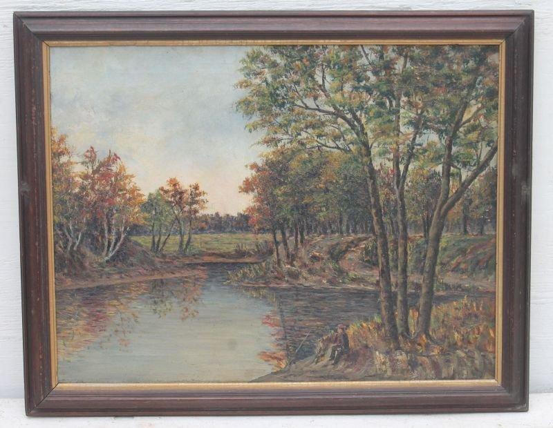 """Thomas Hill (1829-1908 Boston & Taunton) 20""""x26"""" o/c - 4"""