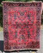 52x63 antique Persian Lilihan Oriental area rug