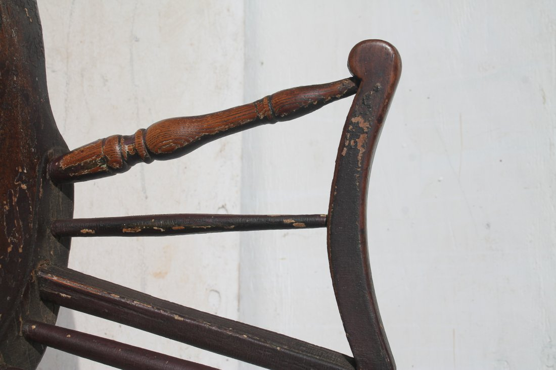 Very desirable form Eastern CT ca 1790 tenon arm ladies - 4