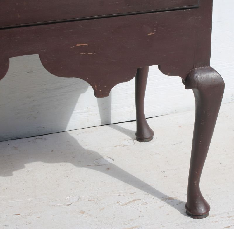 extremely rare & very desirable early ca 1740 MA desk - 5