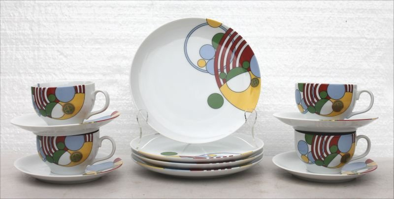 "Tiffany & Co 12pc luncheon set in the ""Cabaret"" pattern"