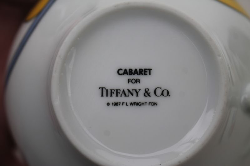 "Tiffany & Co 12pc luncheon set in the ""Cabaret"" pattern - 3"