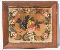 lg 19thC theorem on velvet of fruit in a crystal bowl