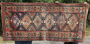 34x75 antique Kazak Oriental area rug