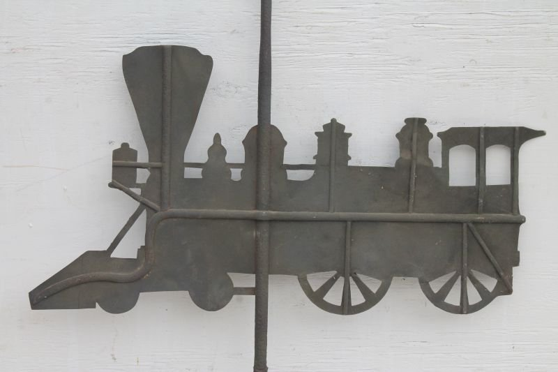 late 19thC heavy guage sheet iron silhouette form rare - 2