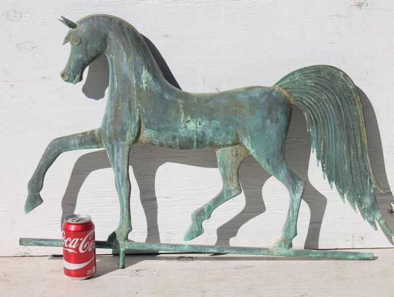 2nd quarter 20thC very folky copper horse weathervane w - 3