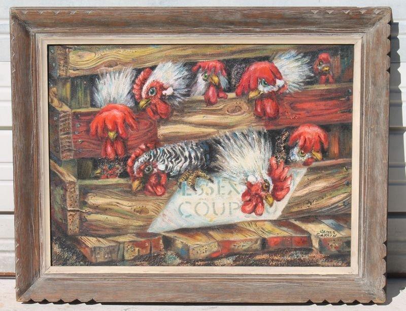 """James Carlin (1906-2005) 24""""x32"""" o/canvas bd very"""