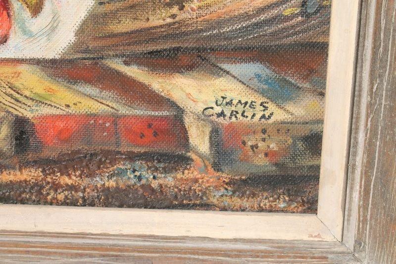 """James Carlin (1906-2005) 24""""x32"""" o/canvas bd very - 2"""