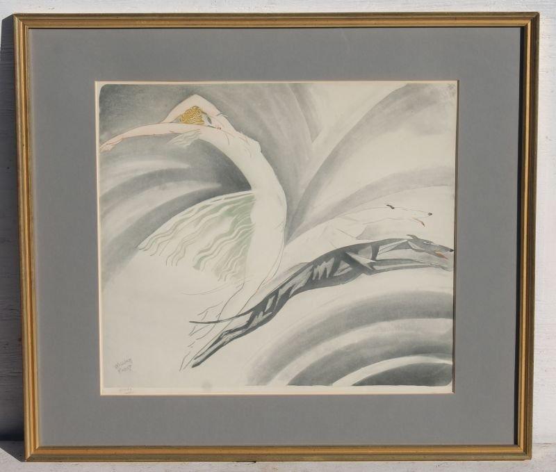 Very rare pencil sgnd William Fadat (Louis Icart