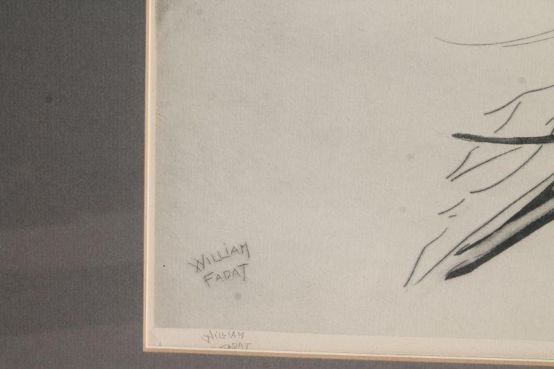 Very rare pencil sgnd William Fadat (Louis Icart - 2