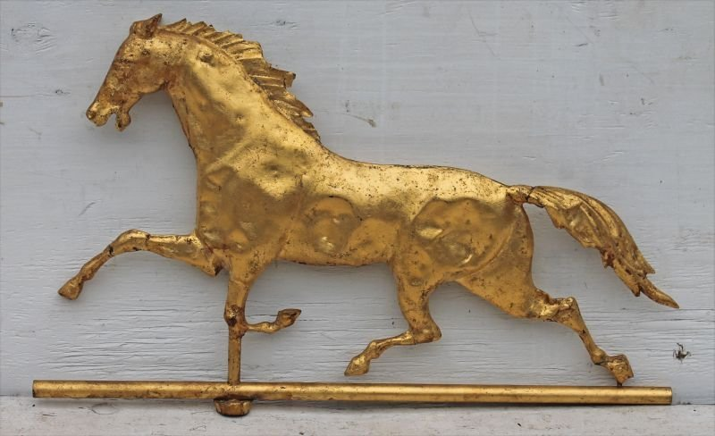 """late 19thC """"Curtis"""" type copper horse weathervane w"""