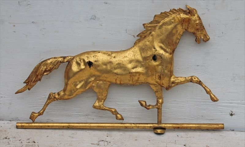 """late 19thC """"Curtis"""" type copper horse weathervane w - 2"""