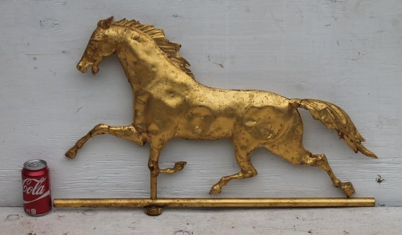 """late 19thC """"Curtis"""" type copper horse weathervane w - 3"""